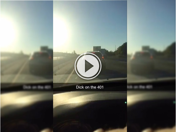 Driving along, when suddenly there's a dick in traffic (Video)
