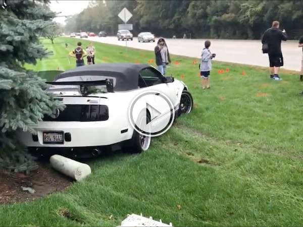 And this is why you don't showboat, Mustang Driver! (Video)
