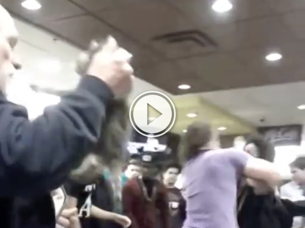 While at a brawl at McDonalds, this guy brings a baby hamburglar home (Video)