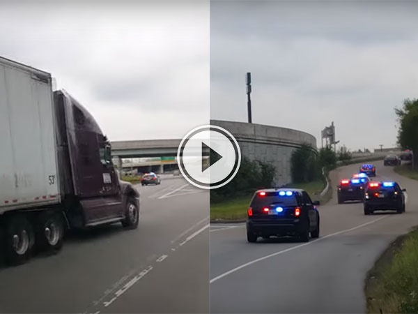 Two guys hilarious reaction to a police chase (Video)