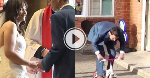 Groom makes epic journey for forgotten wedding ring (Video)