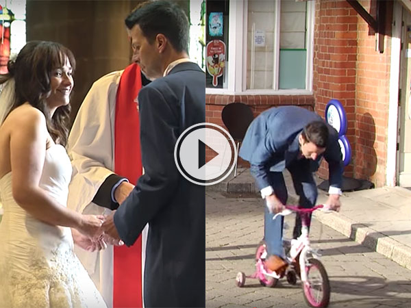 Groom makes epic journey for forgotten wedding ring (Video)