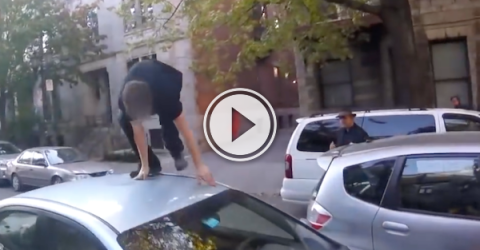 Handling your road rage like a gentleman, I see! (Video)