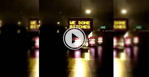 Uh Oh, someone's not using ministry approved words on our road signs (Video)