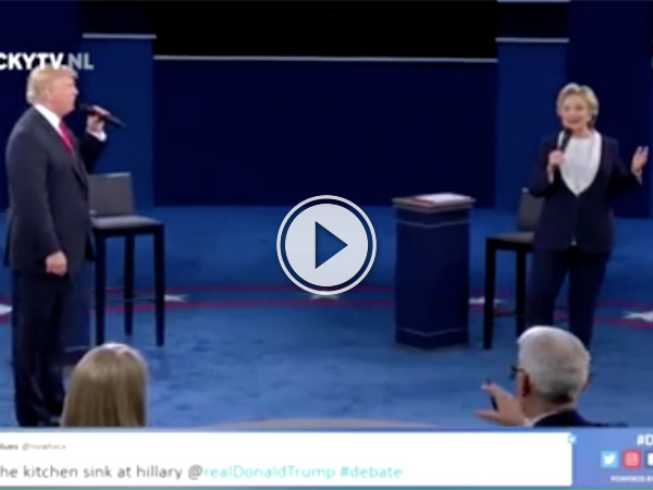 Trump and Hillary serenade each other during debate