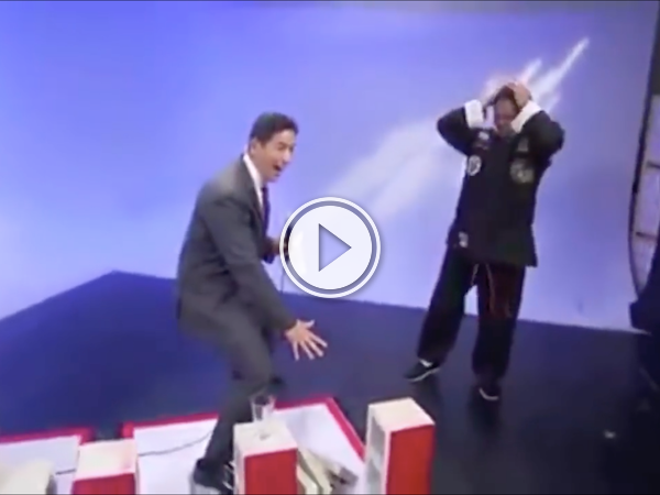 TV reporter accidentally ruins a demo for a martial artist (Video)