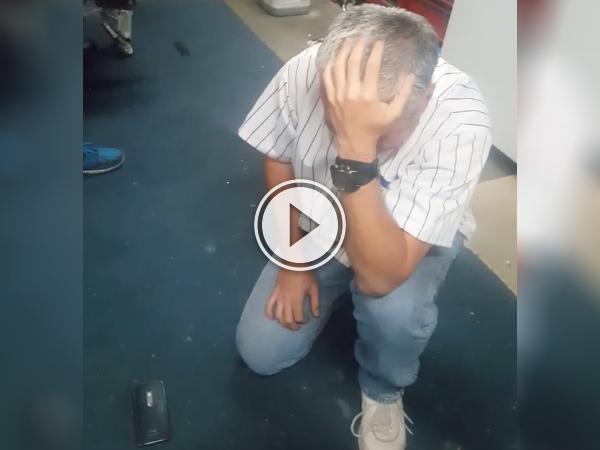 Cubs fan breaks down in tears after World Series win