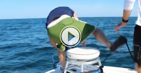 Ah yes, the noble battle between man and 500lb fish! (Video)