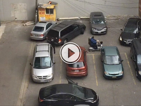 Holy Crap, this parking lot is insane! (Video)