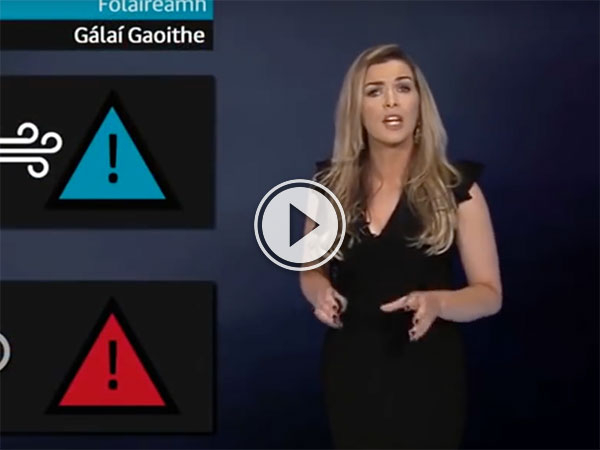 Irish weather girl 'killed by lightening' in Halloween prank (Video)