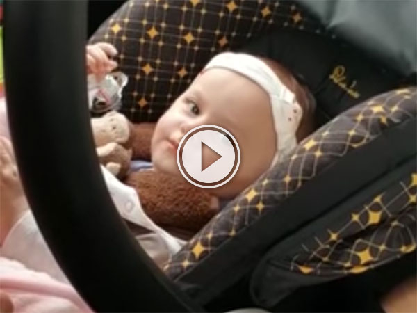 This baby has had enough of her father's sh!t (Video)