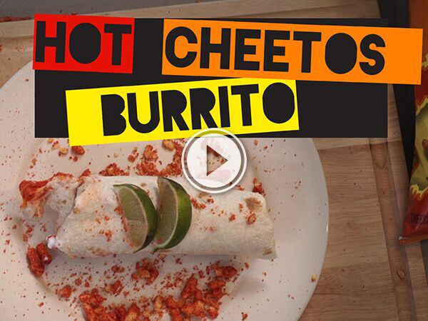 Drunk Eats - Hot Cheetos Burrito