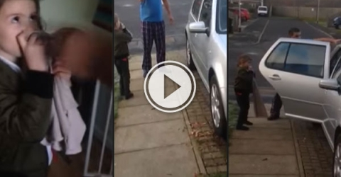Awesome dad teaches car not to mess with his daughter (Video)