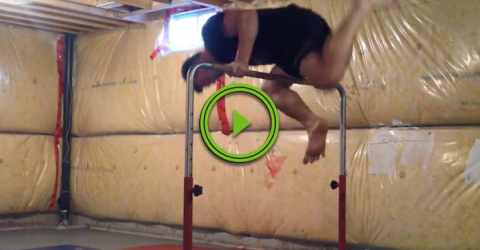 Dads can do gymnastics too, or can they? (Video)