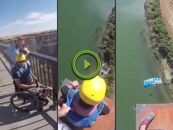 Brave Quadriplegic Base Jumper Defies Disability (Video)
