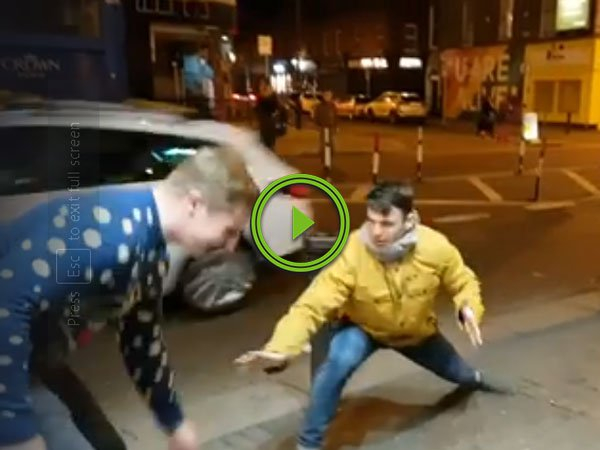Irish guys mocking Conor McGregor, end up being interrupted by him (Video)