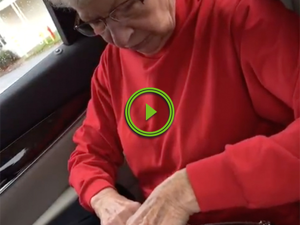 Grandparents cuss for first time when they're surprised by their son