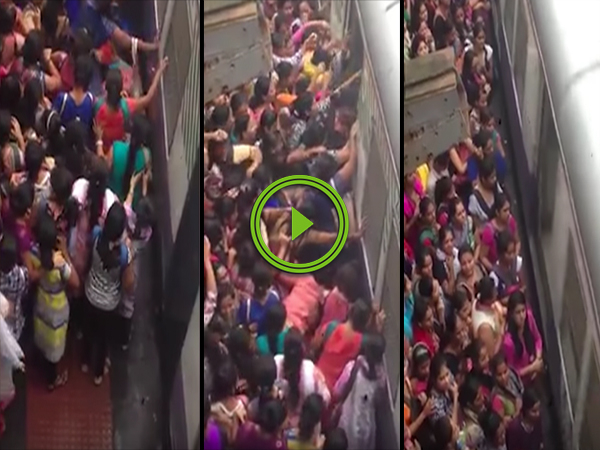 Women's train service in Mumbai is extremely overcrowded