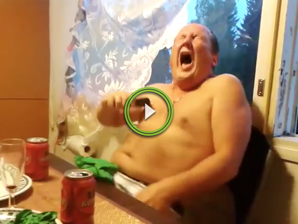 Two drunk Russian brothers and a stun gun have a quiet night in (Video)