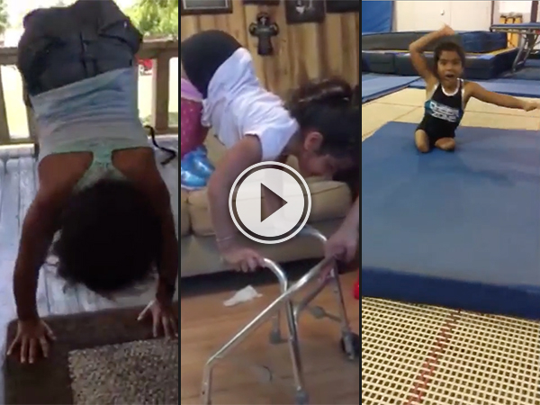 Little amputee gymnast is all the inspiration