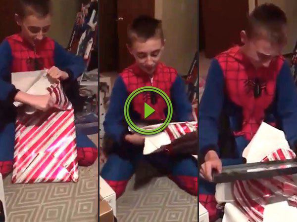 Boy Receives Official Adoption Certificate for Christmas (Video)