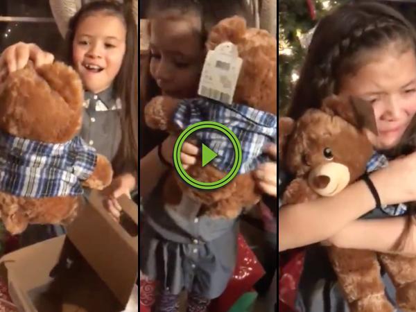 Girls get teddy bears with grandpas voice (Video)