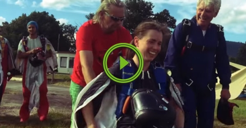 Paraplegic Daredevil Does First Jump After Accident (Video)