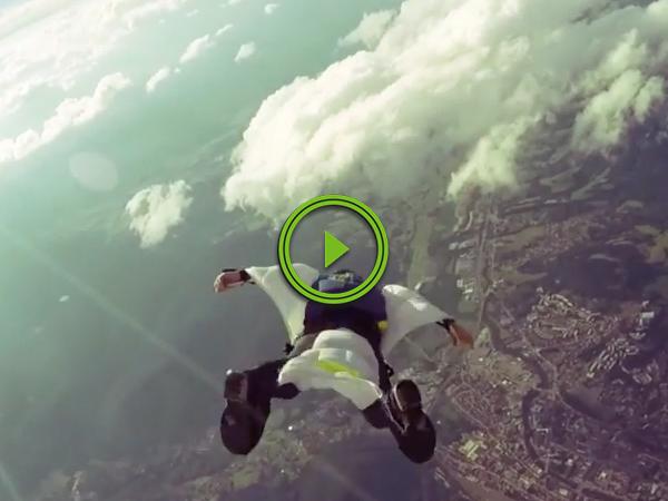 Paraplegic daredevil returns to the sky