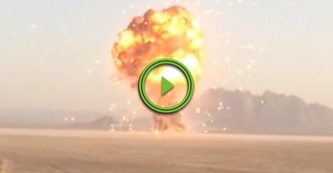 Brit Soldiers and US Marines detonate 100,000lbs of British Ordinance