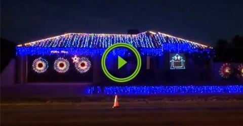 The most metal Christmas lights ever