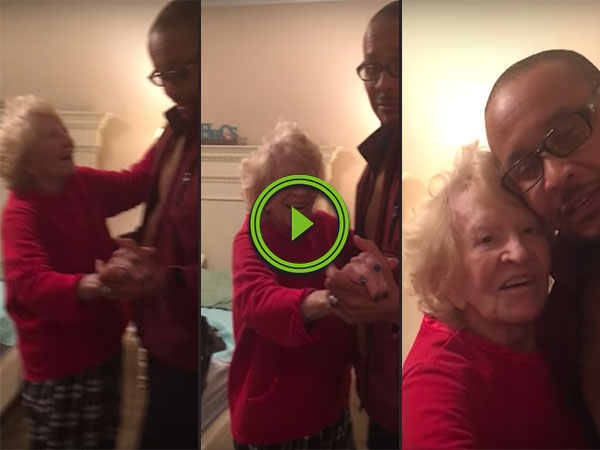 Old woman tells carer to leave his wife for her (Video)