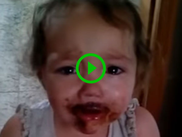 Little Girl Busted Eating Chocolate (Video)