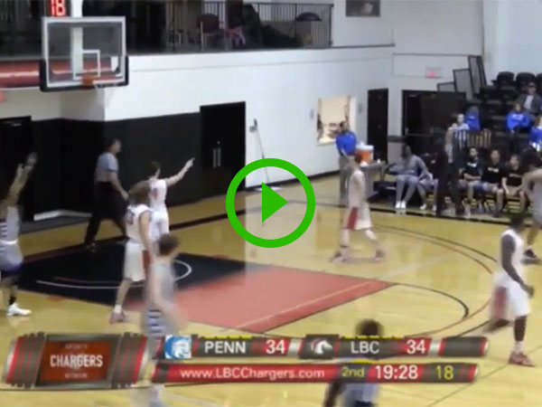 Coach hits 3 pointer from sidelines (Video)