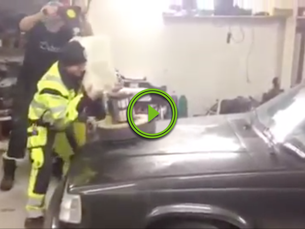 When the boss tells you to make that hood shine like marble... (Video)