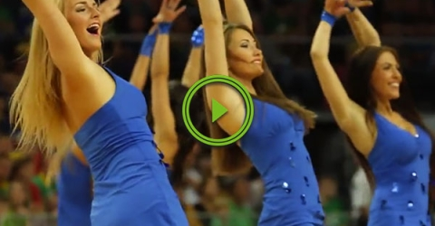 Lithuanian cheerleaders know how to get a crowd going (Video)