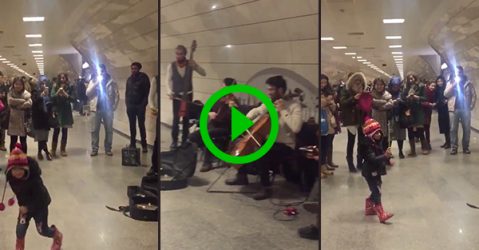 Little kid conducts band on Istanbul Metro (Video)