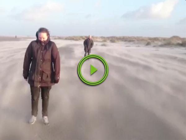 Nature's sandblaster creates optical illusion of walking on clouds