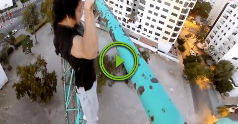 When crossfit isn't metal enough, you workout on a crane (Video)