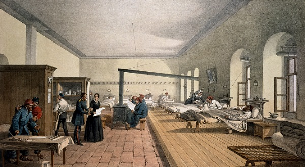 one of the wards in the hospital at scutari  wellcome m0007724   restoration cropped Odd medicine in history sounds sketchy to say the least (15 Photos)