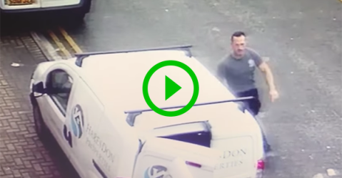Man caught stealing tools from van (Video)