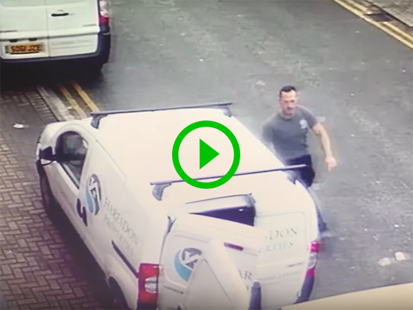 Man caught stealing tools from van (Video)