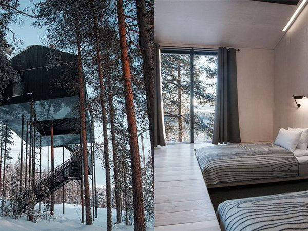 Awesome treehouse hotel under Northern Lights in Lapland (7 Photos)