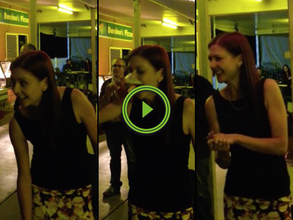 This girl can chug a beer faster than you (Video)