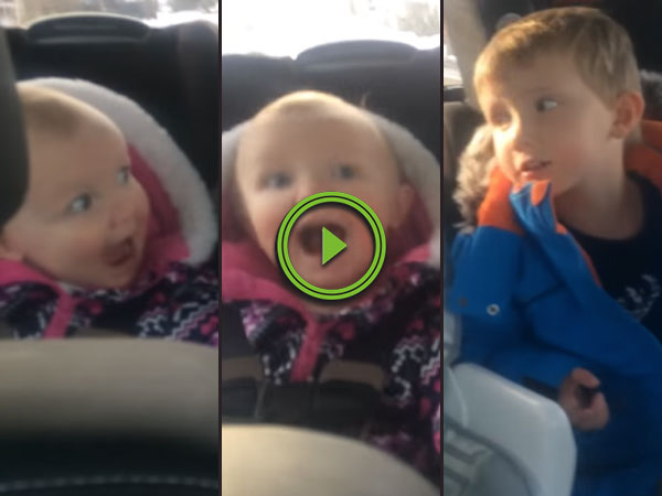 Siblings fighting over the F*Bomb in the backseat (Video)