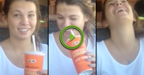 Girl has trouble with a simple mind trick of Eyes vs Yes (Video)