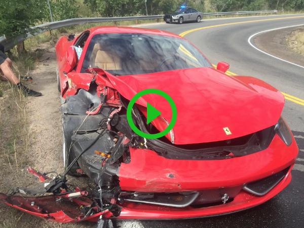 Guy totals $300k Ferrari 458 Italia