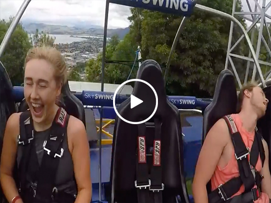 Guy passes out on Sky Swing ride