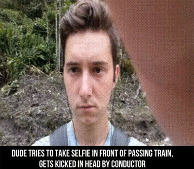 dude tries to take selfie in front of passing train o 3083259 88d38 Clear the meme tracks...these Trains DGAF (35 Photos)