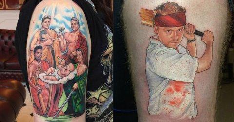 British tattoo artist's pop culture themed creations (26 Photos)