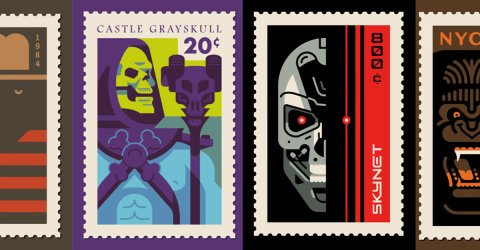 Awesome pop culture themed stamps from Clark Orr (20 Photos)